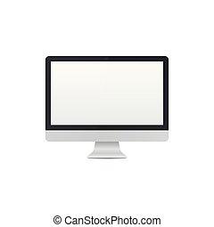 Realistic desktop pc template