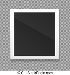 Realistic Detailed 3d Blank Photo Frame. Vector