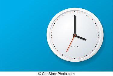 Realistic Detailed 3d Clock Banner Horizontal. Vector