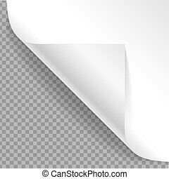 Realistic Detailed 3d Curved Corner. Vector