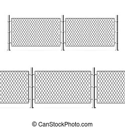 Realistic Detailed 3d Metal Fence Wire Mesh. Vector