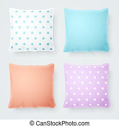 Realistic Detailed 3d Pillow Mock Up. Vector