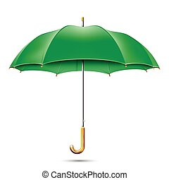 Realistic Detailed Green Umbrella. Vector EPS10 Illustration