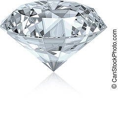 Classic and realistic diamond. Vector.