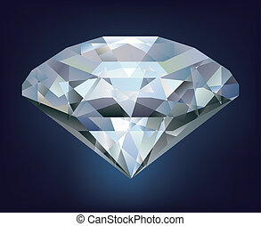 Realistic diamond illustration