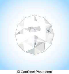 Realistic diamond jewel shaped. Vector Gem illustration.