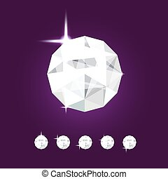 Realistic diamond jewel. Vector Gem illustration.