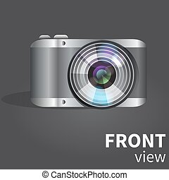 Realistic digital photo camera