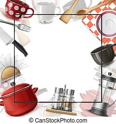 Realistic Dishes Colorful Template