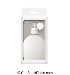 Realistic Dispenser - Realistic Cosmetic bottle In a...
