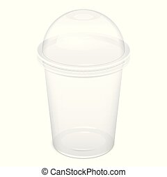 Realistic Disposable big Plastic Cup - Realistic Plastic...