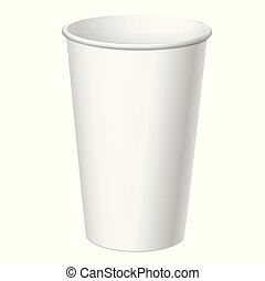 Realistic Disposable big Plastic Cup - Realistic White...