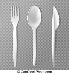 realistic disposable fork knife spoon - disposable fork,...