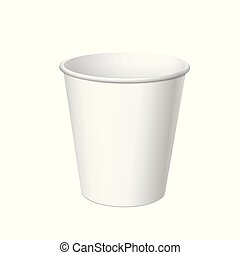 Realistic Disposable small Plastic Cup - Realistic White...