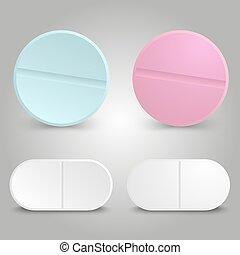 Realistic drug design - medicinal pills set