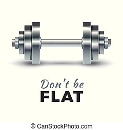 Realistic dumbbells vector