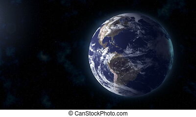 realistic Earth background focus US