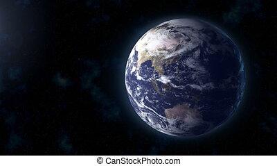 realistic Earth BG focus Asia