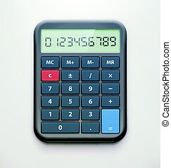 Realistic electronic calculator