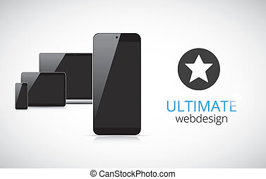 Realistic electronic devices vector