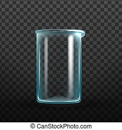 Realistic Empty Laboratory Glass Beaker