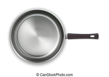 realistic empty pan