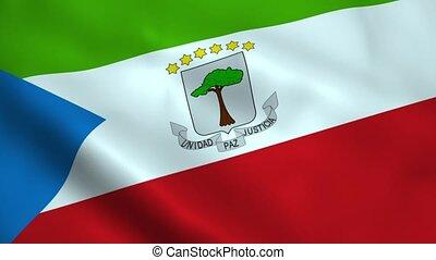 Realistic Equatorial Guinea flag