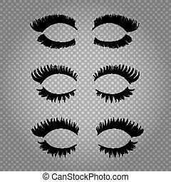 Realistic False Eye Lashes Set - Set of realistic false...