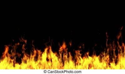 Realistic fire animation at the bottom of the screen. ...