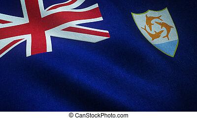 Realistic flag of Anguilla