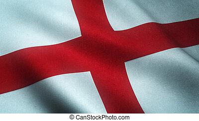 Realistic flag of England