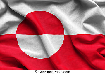 Realistic flag of Greenland