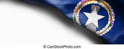Realistic flag of Northern Mariana Islands