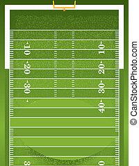 Realistic Football on Textured Football Field - A football...