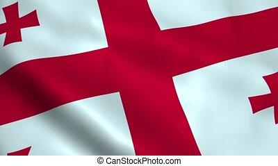 Realistic Georgia flag