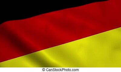 Realistic Germany flag