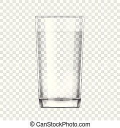 realistic glass cup. Transparent glassware - Realistic glass...