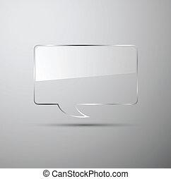 realistic glass speech bubbles