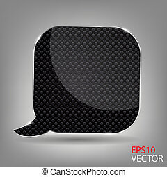 Realistic glass speech bubble.Vector  illustration.