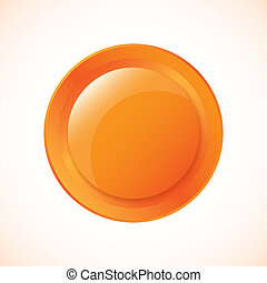 Glossy Plastic Vector Button