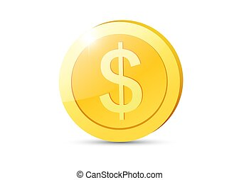 Realistic Gold coin. - Golden coin. Vector isolated...