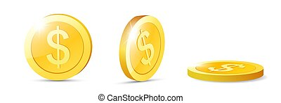 Realistic Gold coins. For your online casino design