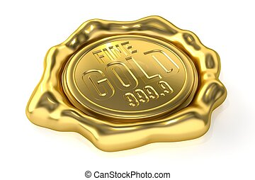 Realistic Gold Seal : Fine Gold 999.9