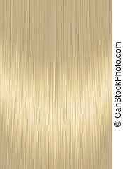 Realistic golden blond straight hair texture with glossy shiny detail. Vector illustration.
