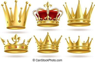 Cartoon Crown Golden Emperor Prince Queen Royal Crowns Diamond Coronation Gold Antique Tiara Crowning Imperial Corona Canstock 4,000+ vectors, stock photos & psd files. cartoon crown golden emperor prince