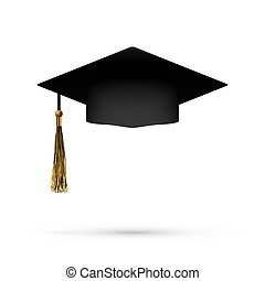 Realistic Graduation Cap With Shadow