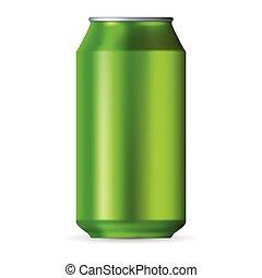 Realistic green aluminum can