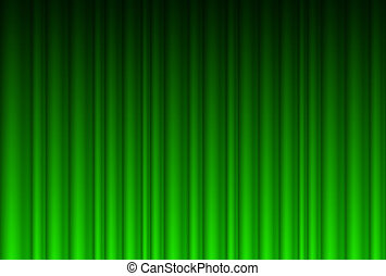 Realistic green curtain