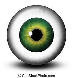 Realistic Green Eyeball