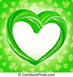 Realistic green heart - eco, bio, vegan, natural